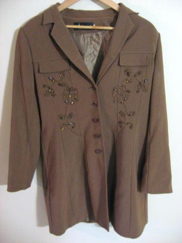 Retro Style Women's Jacket by Maigevao - Brown - Size 8 Medium