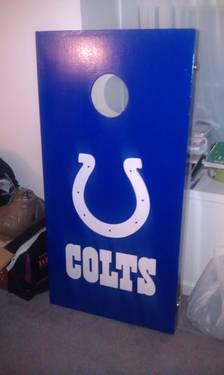 Colts Cornhole Set - Hardly Used