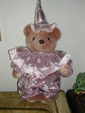 ~~ BEARLY POPLE COLLECTIBLE BEAR - JESTER 17