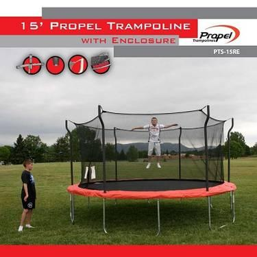 NEW Propel Trampolines W/ Enclosure 12' 14' & 15 foot