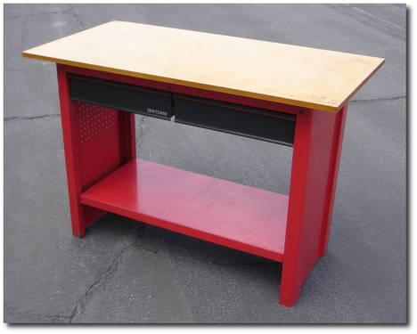 Sears Craftsman Work Bench Workbench With 2 Drawers Peg Board Sides For Sale In Temple City