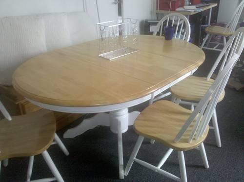 REDUCED TO SELL Wood Dining Table 2 Tables In 1 French Country Quot