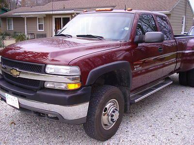 2001 chevy silverado duramax diesel dually 3500 4 x 4 extended cab for sale in northfield ohio. Black Bedroom Furniture Sets. Home Design Ideas