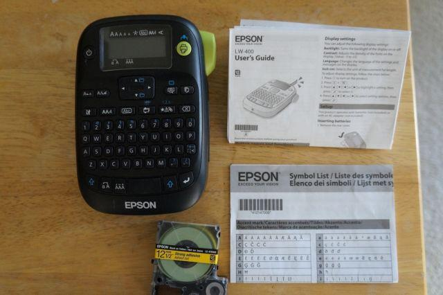 Epson LabelWorks LW-400 Label Printer, 4-3/8