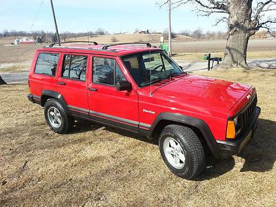 1993 Jeep Cherokee XJ Sport Utility 4-Door 4.0L Red 5spd Manual 4x4
