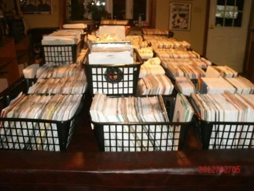 Over 3,500 sleeved 45's records