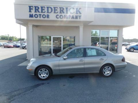 2003 Mercedes-Benz E-Class 4 Door Sedan