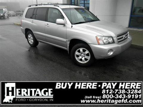 2002 TOYOTA HIGHLANDER 4 DOOR SUV