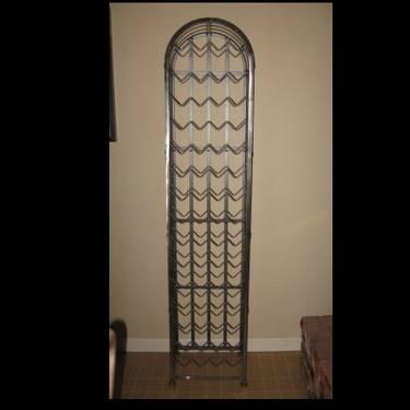 Tall Metal Wine Rack 71 Inches Silver For Sale In