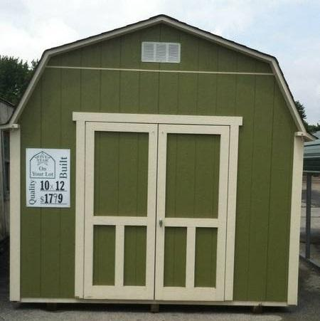 Storage Garden Shed Built on Your lot from 8 x 10 to 12 x 24