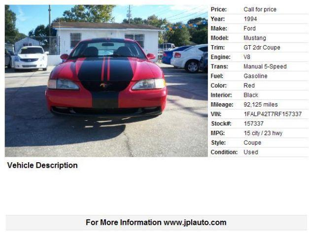 ***1994 Ford Mustang 92125 miles Red***