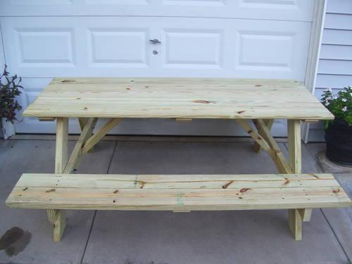 PICNIC TABLE 6' (ALL TREATED WOOD)