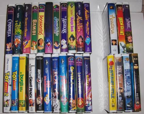 Disney Collection of 22 Disney Movies and 7 Children?s movies w/VHS Pl