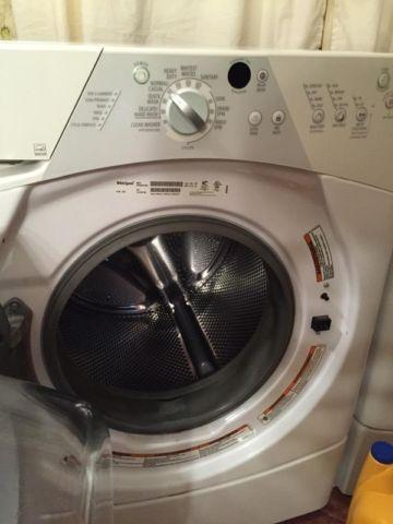 Front load washer and gas dryer
