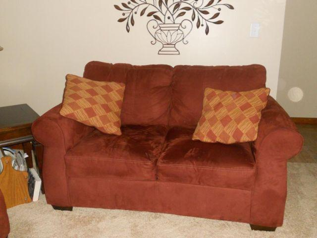 Used Microfiber Couch and Loveseat