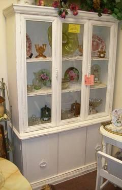 Oak China Hutch and Table