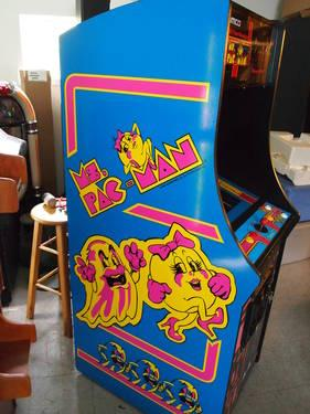 New Ms Pacman Galaga upright video arcade game full size / warranty