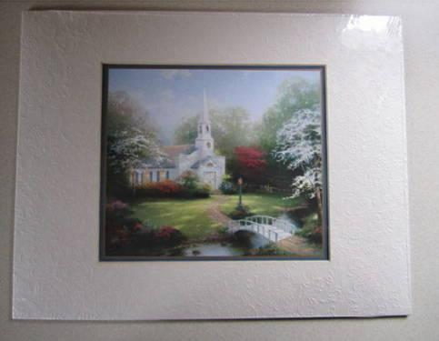 Thomas Kinkade Litho w/Certificate of Authenticity - Matted - Unopened