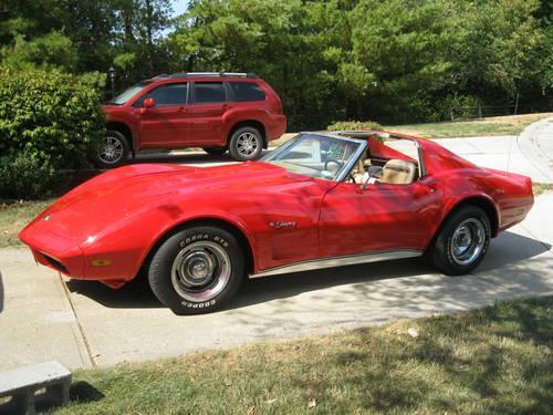1974 Corvette Stingray, Red, Auto., 283 V8