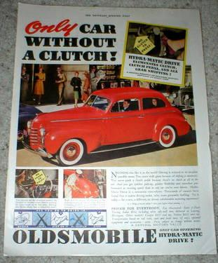 1940 Advertisement - Oldsmobile & Delco Battery - Sat. Evening Post