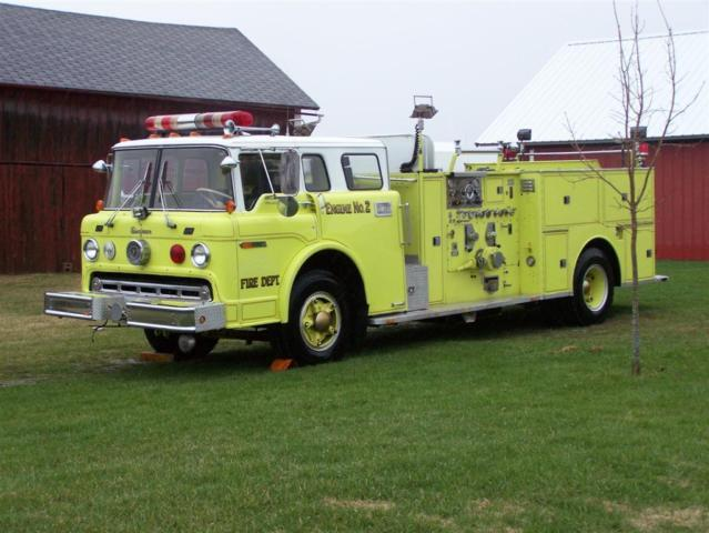 1974 Ford C8000 Seagrave Green Bay Wisconsin Fire Engine Truck