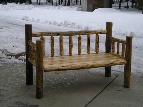 New Rustic Log Bench Reclaimed Wood For Sale In Athol Idaho Classified