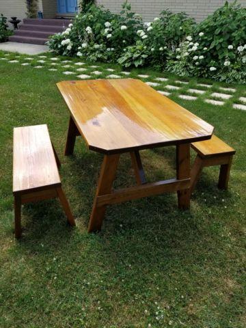 ##### Farmhouse table & benches #####