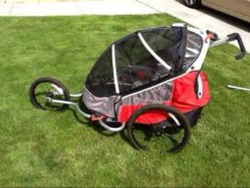 Trek Go Bug Deluxe Two Seater Bike Trailer And Jogging