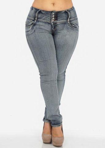 Skinny Faded Blue Jean