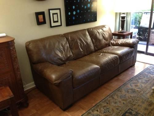 Italian Leather Sofa Couch Brown Italsofa Natuzzi For