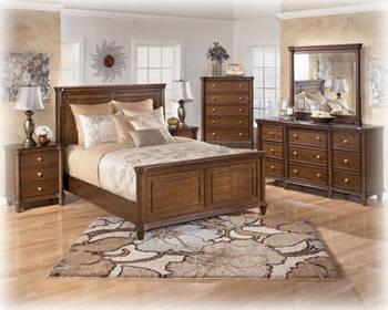 NIB! Queen Bedroom Set - cherry brown finish - transitional style