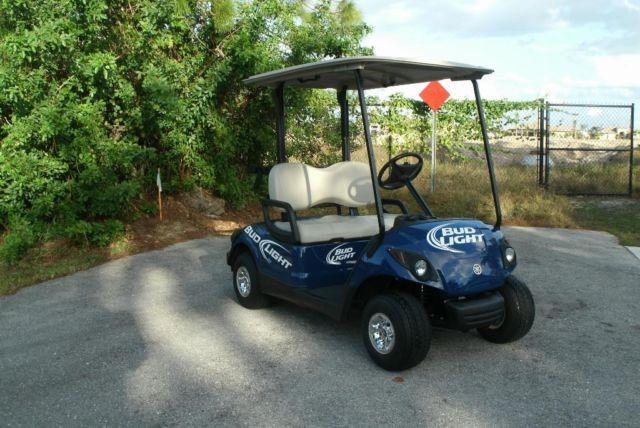 2012 yamaha gas golf cart bud light logos new for for Yamaha golf cart dealers in florida