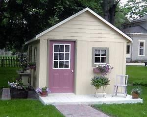 12 x 16 x 12 Storage Barn Built on Your Lot 5 Year Warranty