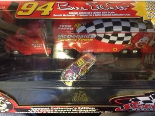 Bill Elliot 1998 NASCAR car & transporter