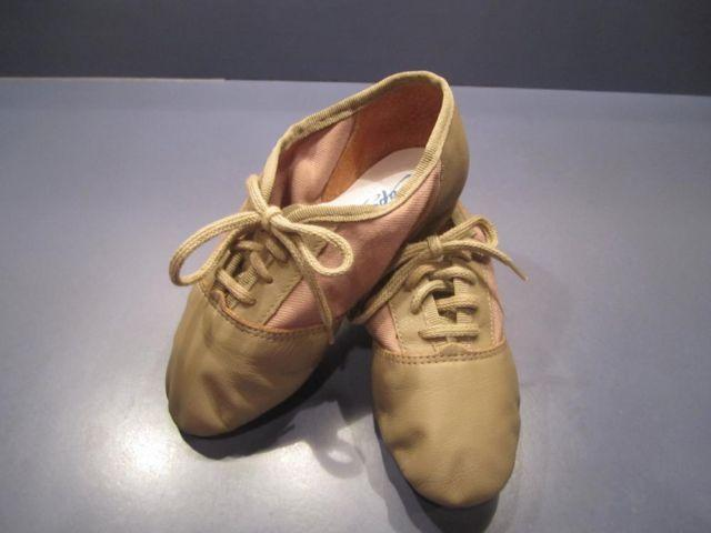 Girls DANCE Shoes *Tan JAZZ size 13W + Caramel TAP size 13.5 * 13-1/2