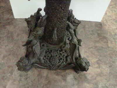 Antique heavily carved table