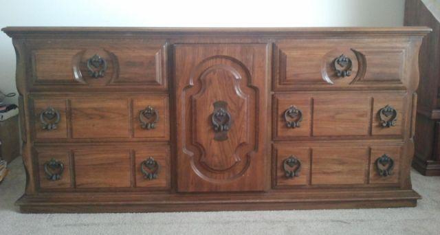 Stunning Vintage 1970s Drexel Heritage Carved Wood Dresser