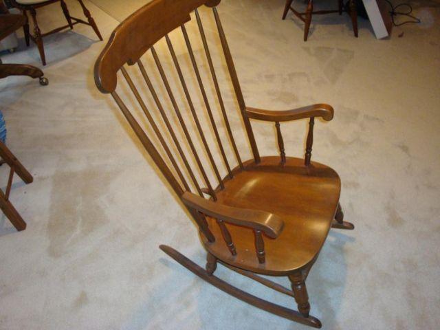 Hardwood rocking chair