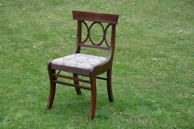 VINTAGE ANTIQUE FOLDING MAHOGANY SIDE DESK CHAIR ~ TELL CITY CHAIR CO