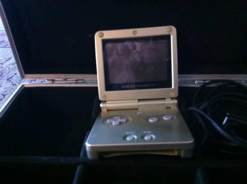Nintendo Gameboy Advanced SP with charger/case & 10 Games
