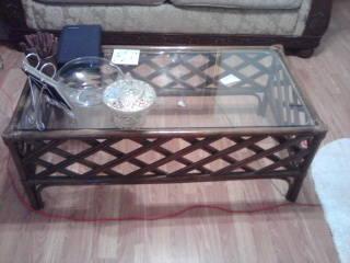 Ratan Glasstop Coffee Table