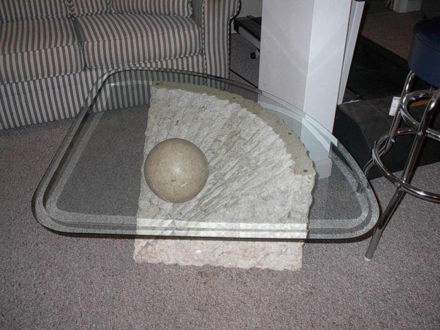 3 pcs stone style coffee table set