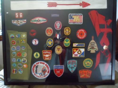 Boy Scout 1970's Colage framed