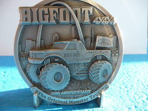 bigfoot 20yr commemorative medallion