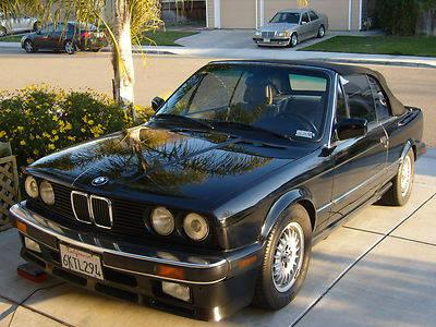 1989 BMW 325i E30 Convertible 2-Door 2 5L for Sale in Tracy
