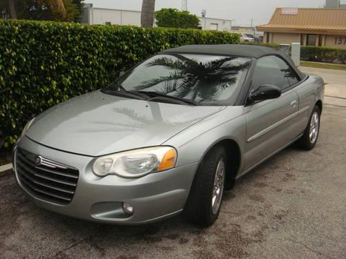 2004 CHRYSLER SEBRING CONVERTIBLE ****LIMITED ******TEAL