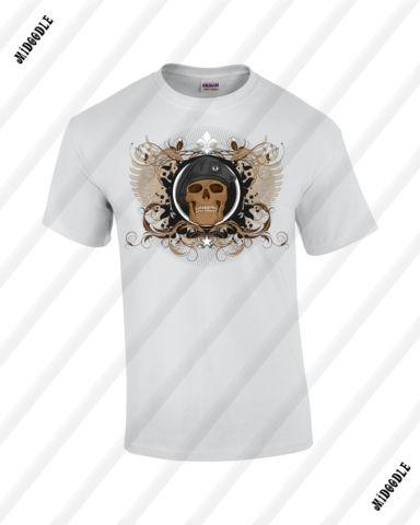 Skull Beret Gildan Ultra Cotton T-shirt (Unisex)