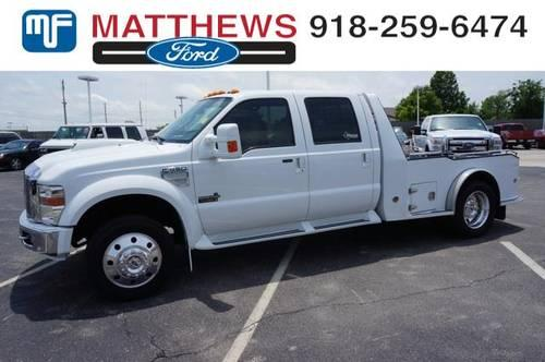 2008 ford super duty f 450 drw crew cab chassis cab western hauler for sale in broken arrow. Black Bedroom Furniture Sets. Home Design Ideas