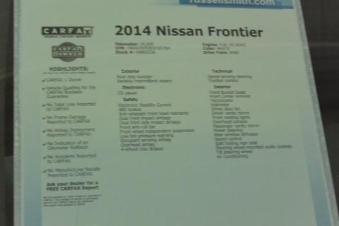 2014 Nissan Frontier 4 Door Crew Cab Short Bed Truck