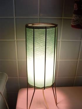 Vintage Retro Atomic Era Cylinder TV Lamp
